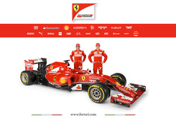 The Ferrari F14 T with drivers Fernando Alonso and Kimi Raikkonen