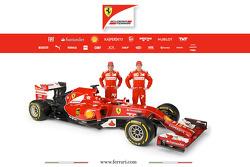 Der neue Ferrari F14 T mit Fernando Alonso und Kimi Räikkönen