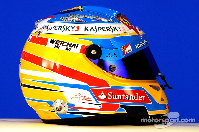 Casco de Fernando Alonso en 2014