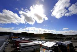 Track atmosphere, paddock