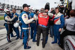 Action Express Racing team members celebrate win