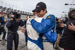 Race winners Christian Fittipaldi and Sébastien Bourdais celebrate