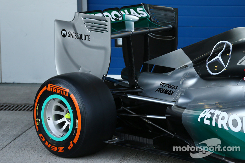 Detail of the Mercedes AMG F1 W05