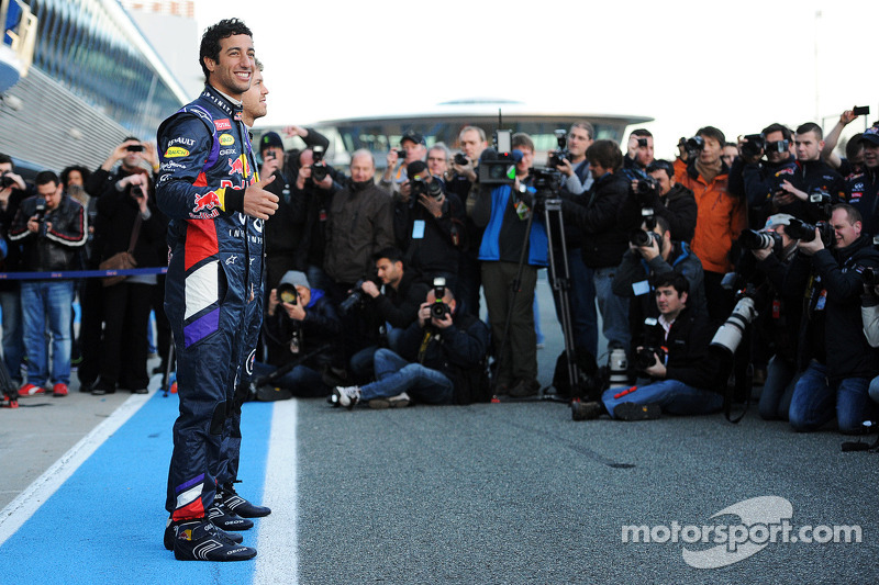 Daniel Ricciardo, Red Bull Racing at the unveiling of the new Red Bull Racing RB10