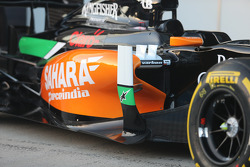Sahara Force India F1 VJM07 detalle de chasis