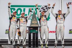 PC class victory lane: class winners Jon Bennett, Colin Braun, Mark Wilkins, James Gue