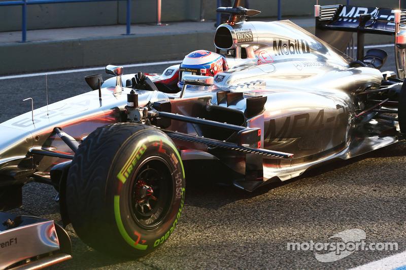 Jenson Button, McLaren MP4-29 sensori di velocità