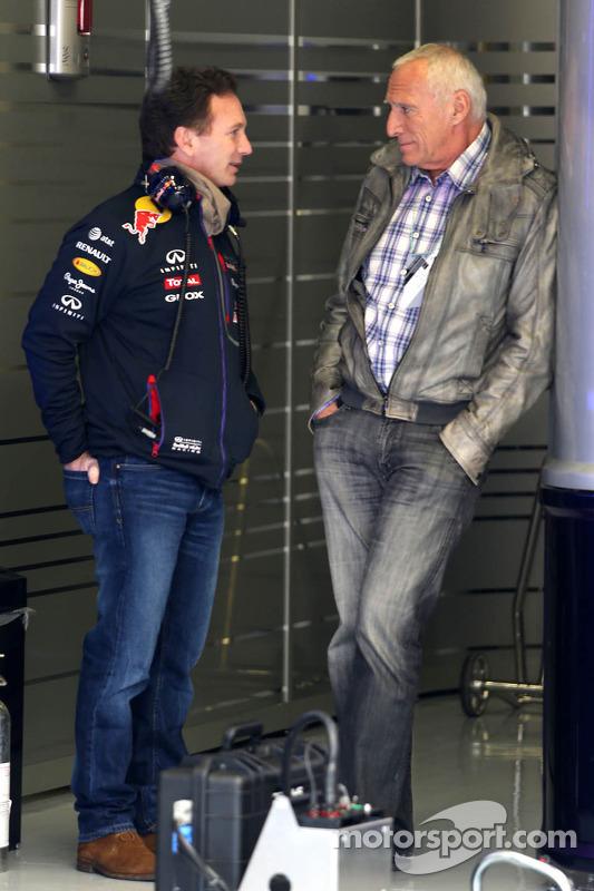 Christian Horner, diretor esportivo da Red Bull Racing e Dietrich Mateschitz, dono da Red Bull