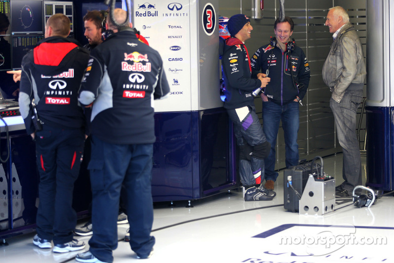 Daniel Ricciardo, Red Bull Racing, Christian Horner, Red Bull Racing, Sporting Director and Dietrich