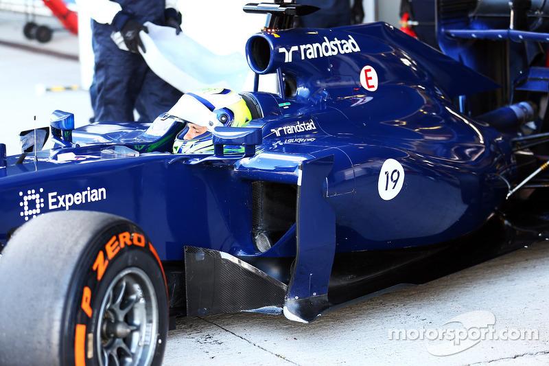Felipe Massa, Williams FW36 - sidepod detayı