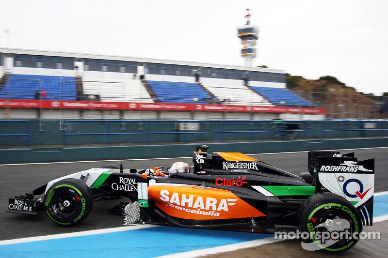 Daniel Juncadella, Sahara Force India F1 VJM07 Test ve Yedek Pilotu pitten ayrılıyor
