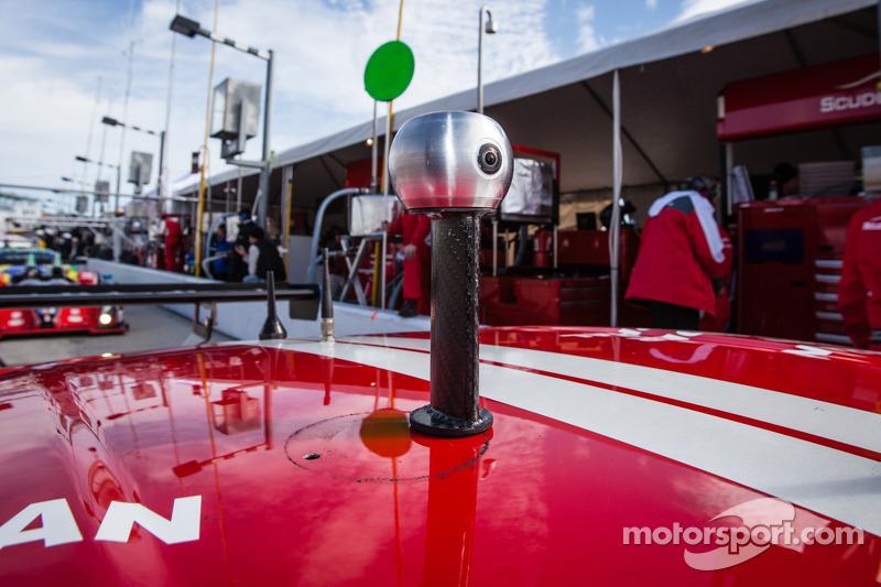 Die 360-Grad-Kamera von Motorsport.com am #63 Scuderia Corsa Ferrari 458 Italia