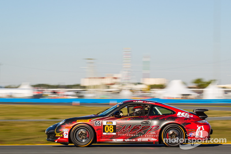 #08 Rebel Rock / MBRP Racing Porsche 997: Kyle Marcelli, Martin Barkey