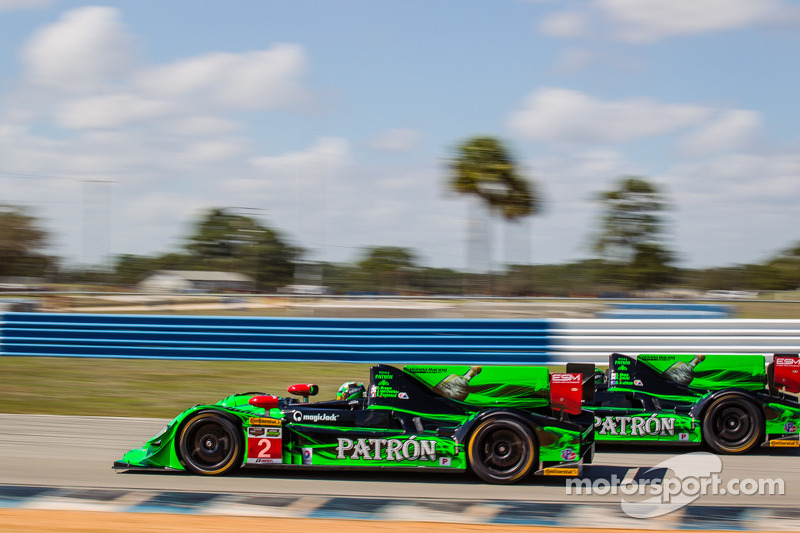 #2 Extreme Speed Motorsports HPD ARX-03b Honda: Ed Brown, Johannes e Overbeek and #1 Extreme Speed Motorsports HPD ARX-03b Honda: Scott Sharp, Ryan Dalziel