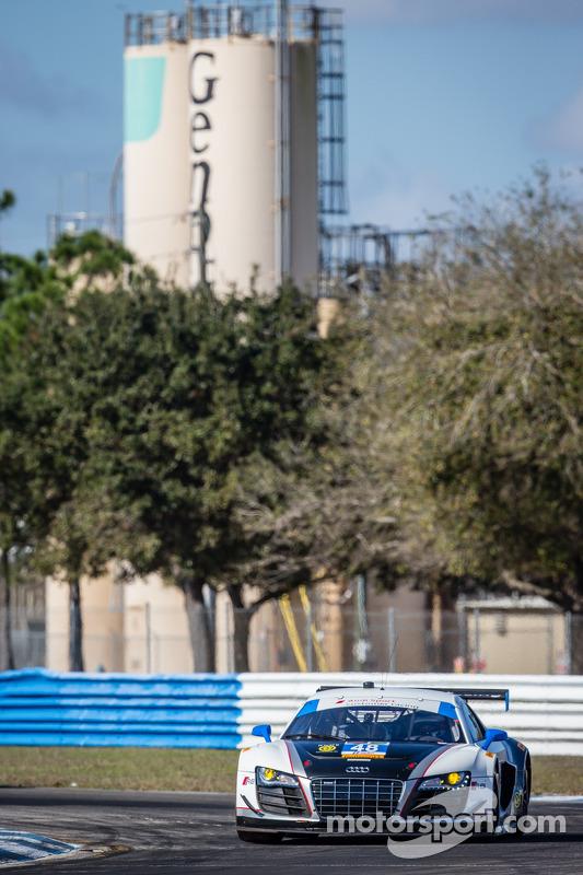 #48 Paul Miller Racing 奥迪 R8 LMS: 布赖斯·米勒, 马特·贝尔, 克里斯托弗·哈斯