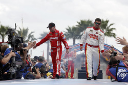Justin Allgaier, HScott Motorsports Chevrolet and Reed Sorenson, Tommy Baldwin Racing Chevrolet