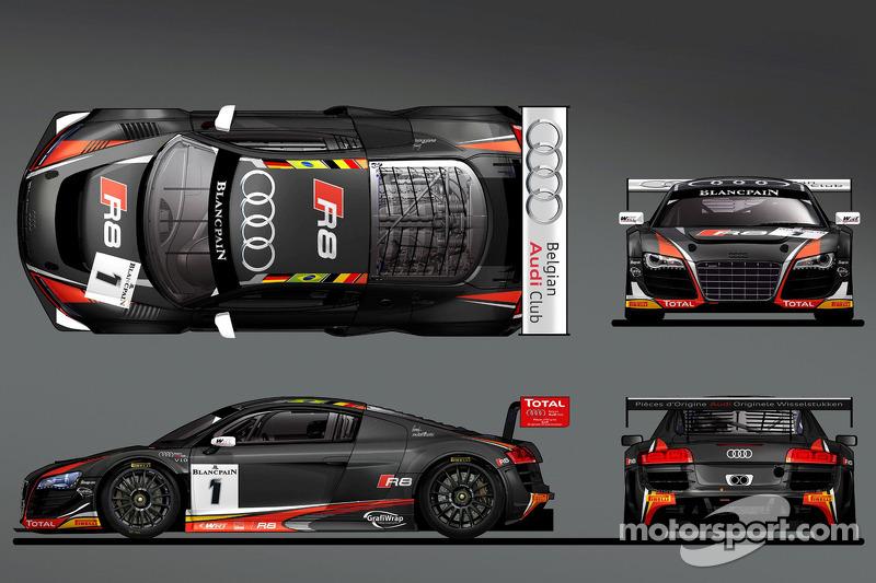 The Belgian Audi Club WRT 2014 livrea