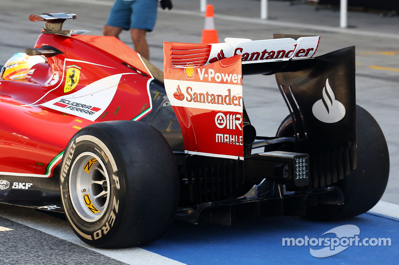 Fernando Alonso, Ferrari F14-T rear wing detail