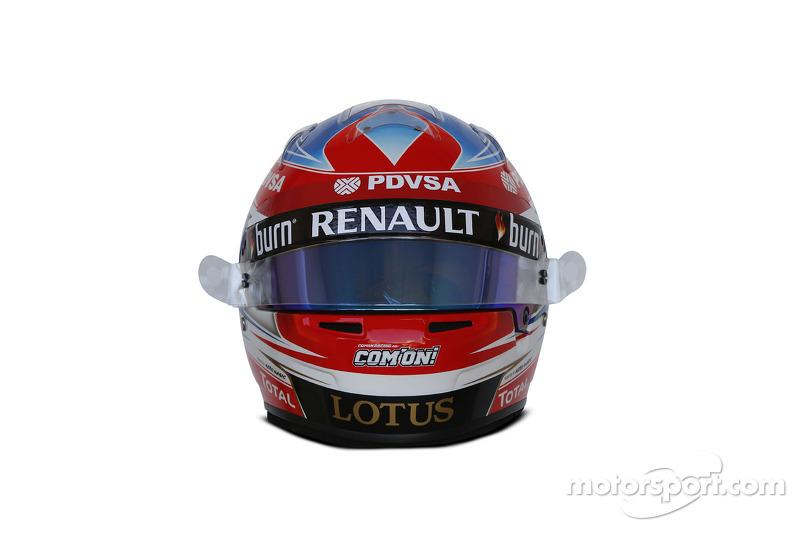 Il casco di Romain Grosjean, Lotus F1 Team
