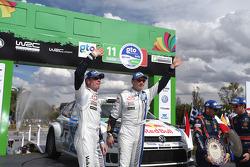 Secondo posto per Jari-Matti Latvala and Miikka Anttila, Volkswagen Polo WRC, Volkswagen Motorsport