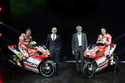 Ducati press conference, Andrea Dovizioso and Cal Crutchlow