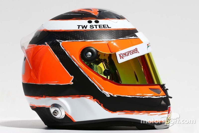 Il casco di Nico Hulkenberg, Sahara Force India F1