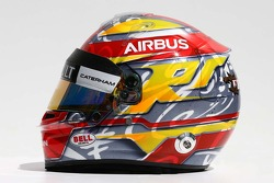 The helmet of Robin Frijns, Caterham Test and Reserve Driver