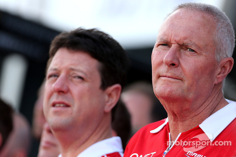 John Booth, Marussia F1 Team, Team Principal e Dave O 'Neill, Marussia F1 Team Manager