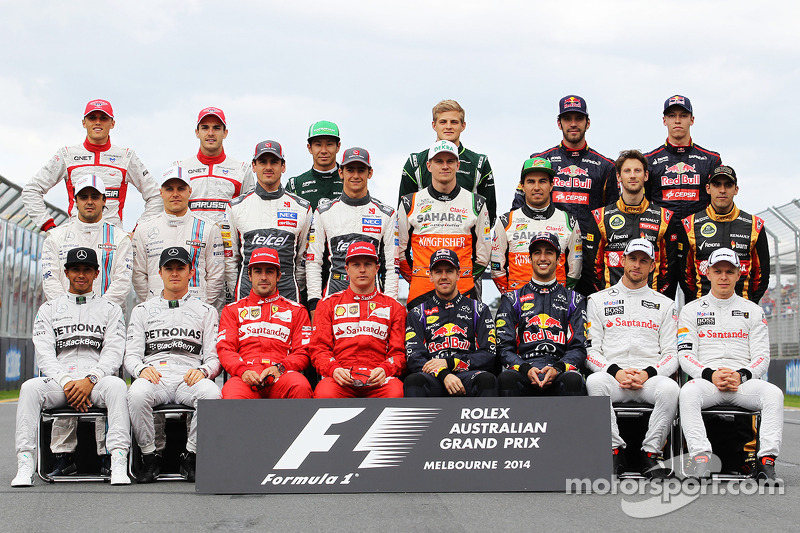 Familiefoto: de klas van 2014 in de Formule 1