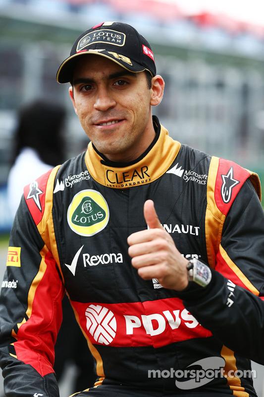 Pastor Maldonado, Lotus F1 Team, no desfile de pilotos