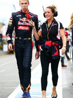 Daniil Kvyat, Scuderia Toro Rosso with Natalie Pinkham, Sky Sports Presenter