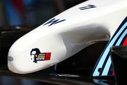 Williams FW36 nosecone with a tribute to Ayrton Senna