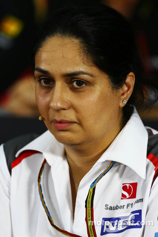 Monisha Kaltenborn, Chefe de equipe da Sauber, em Conferência de Imprensa da FIA