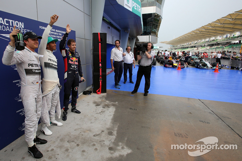 1. Lewis Hamilto; 2. Sebastian Vettel; 3. Nico Rosberg