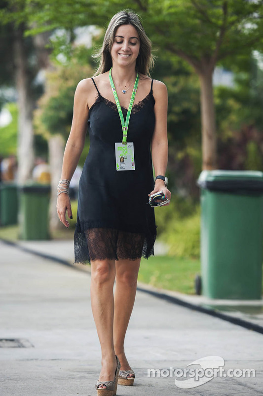 Rafaela Bassi, (direita) esposa de Felipe Massa, Williams
