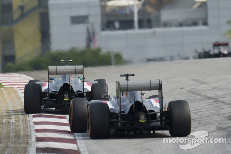Esteban Gutierrez, Sauber C33 ve takım arkadaşı Adrian Sutil, Sauber C33