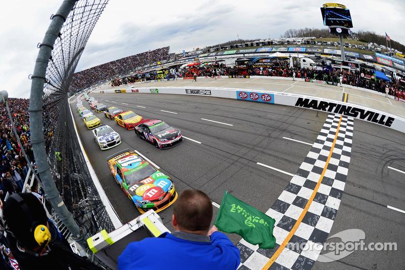 Partenza: Kyle Busch, Joe Gibbs Racing Toyota al comando