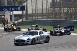 The Safety Car leads Stoffel Vandoorne