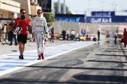 (L to R): Sam Village, Marussia F1 Team with Max Chilton, Marussia F1 Team