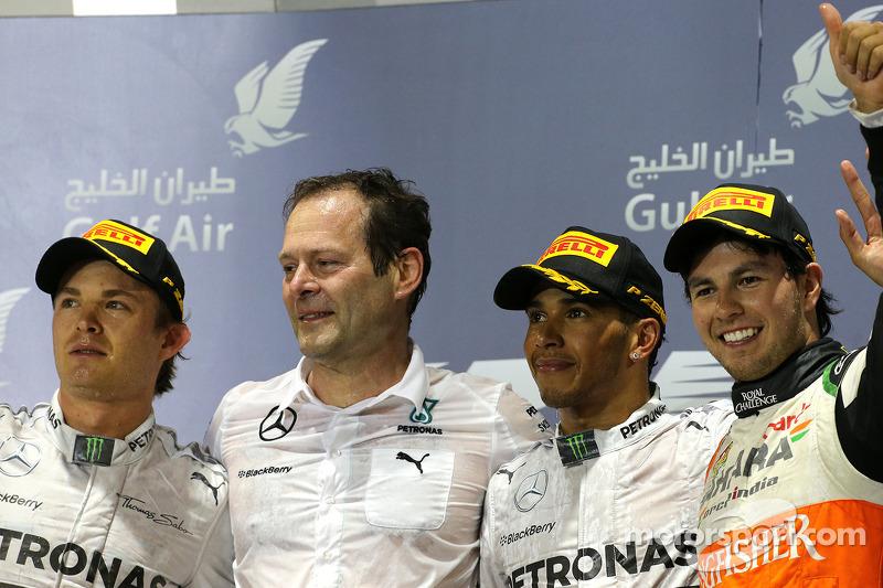 Podium: 1. Lewis Hamilton, Mercedes AMG F1; 2. Nico Rosberg, Mercedes AMG F1; 3. Sergio Perez, Sahara Force India F1