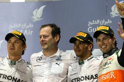 Lewis Hamilton, Mercedes AMG F1 Team e Nico Rosberg, Mercedes AMG F1 Team e Sergio Perez, Sahara Force India  06