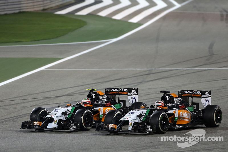 Sergio Perez, Sahara Force India e Nico Hulkenberg, Sahara Force India 06