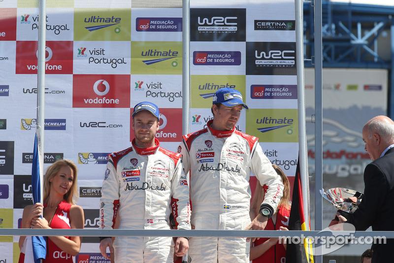 Terzo posto Mads Ostberg e Jonas Andersson, Citroën DS3 WRC, Citroën Total Abu Dhabi World Rally Team