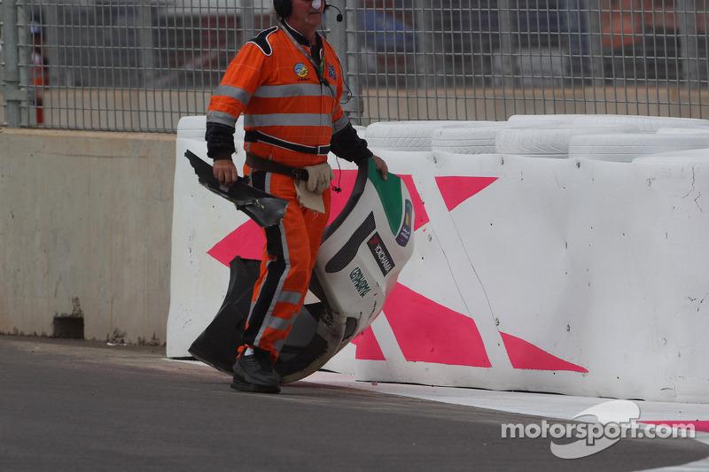 Tiago Monteiro, Honda Civic WTCC, Castrol Honda WTC team, incidente