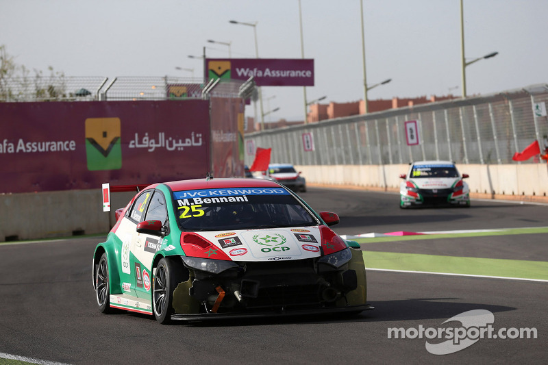 Kaza, Mehdi Bennani, Honda Civic WTCC, Proteam Racing