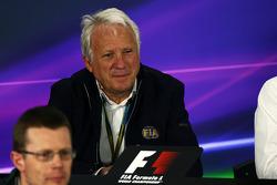 Charlie Whiting, FIA Delegate in the FIA Press Conference