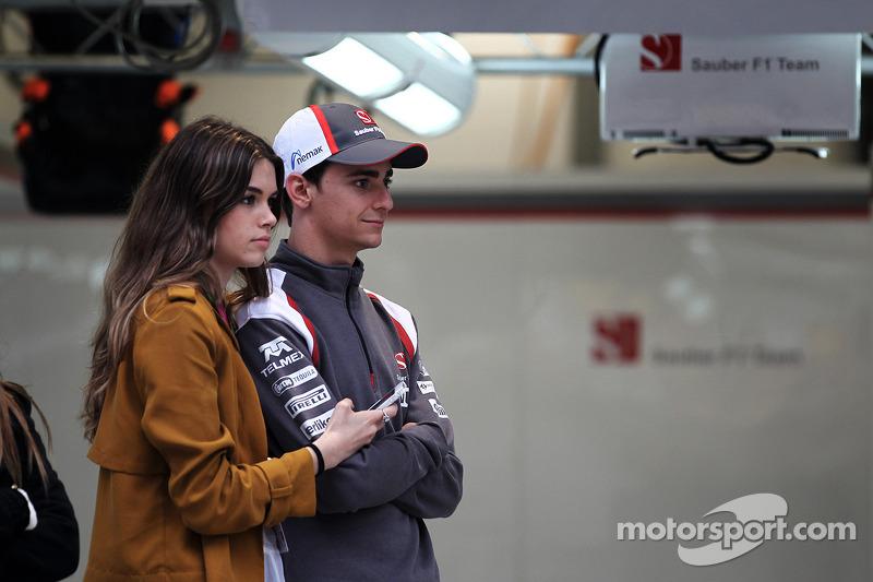Esteban Gutierrez, Sauber F1 Takımı ve kız arkadaşı Paula Ruiz
