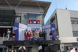 Podyum: Yarış galipleri Pierre Thiriet, Ludovic Badey, Tristan Gommendy, ikinci sıra Michel Frey, Fr