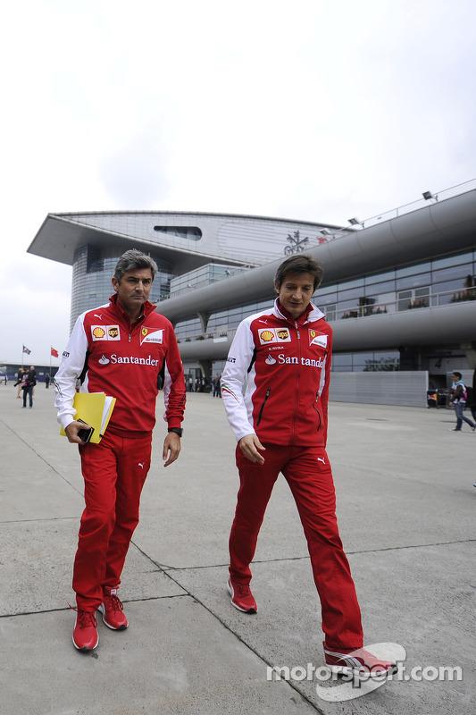 Marco Mattiacci, chefe de equipe de F1 da Ferrari, com Massimo Rivola, Diretor Esportivo da Ferrari