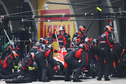 Jules Bianchi, Marussia F1 Team MR03 makes a pit stop